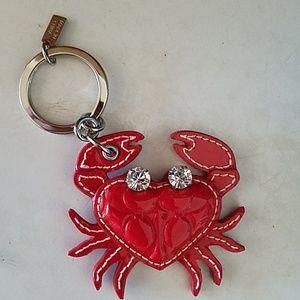 Coach crab key fob